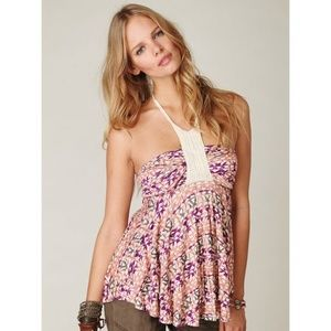Free People Warrior Halter in Sunset Print